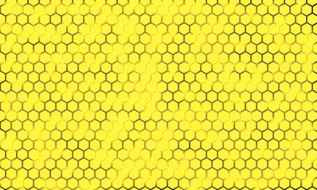 Texture hexagonale jaune sur fond lumineux