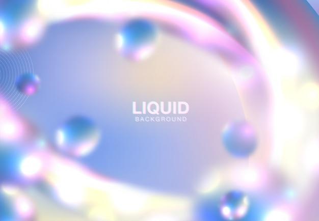 Texture holographique abstraite horizontale
