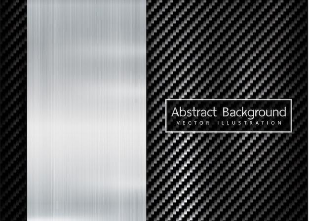Texture kevlar carbone carbone abstraite cadre métallique