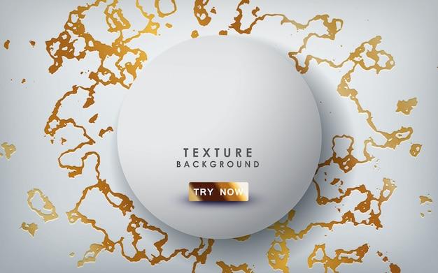 Texture marbre doré avec des couches de cercle
