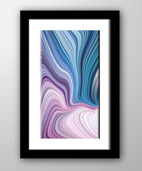 Texture de marbre fluide abstrait multicolore