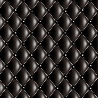 Texture matelassée noire