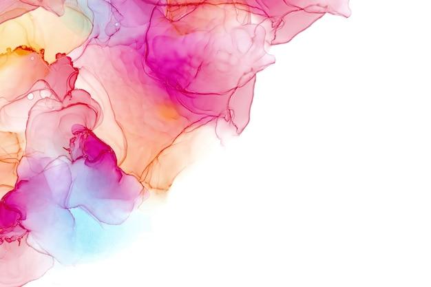 Texture de mer encre alcool. abstrait d'encre fluide. fond de peinture abstraite colorée