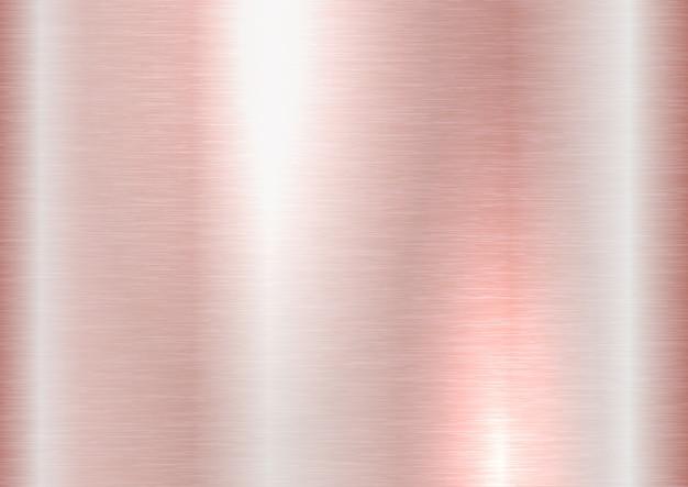 Texture en métal brossé or rose