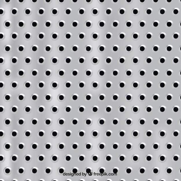 Texture en métal avec des trous