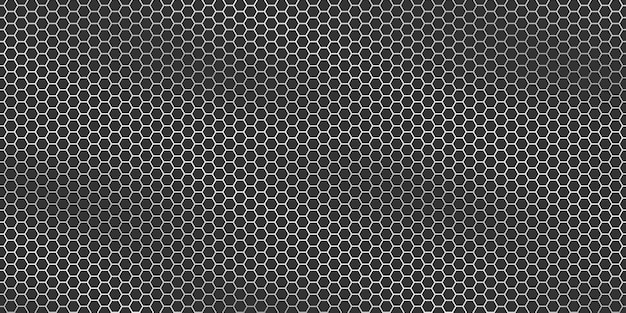 Texture métallique argentée - fond hexagonal de grille métallique.