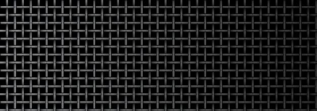 Texture de microphone de grille métallique transparente sur fond sombre.