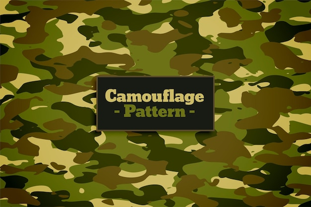 Texture de motif de camouflage sur fond de nuances vertes