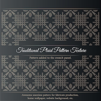 Texture de motif à carreaux traditionnel. impression de texture de tissu sans couture. peut être monté sur un étui de tissage.