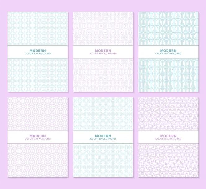 Texture de motif de couleur blanche abstraite pour l'ensemble de modèles de couverture de livre