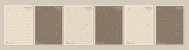 Texture de motif de couleur rétro abstraite pour l'ensemble de modèles de couverture de livre