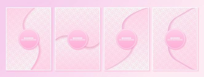 Texture de motif de couleur rose abstrait pour l'ensemble de modèles de couverture de livre