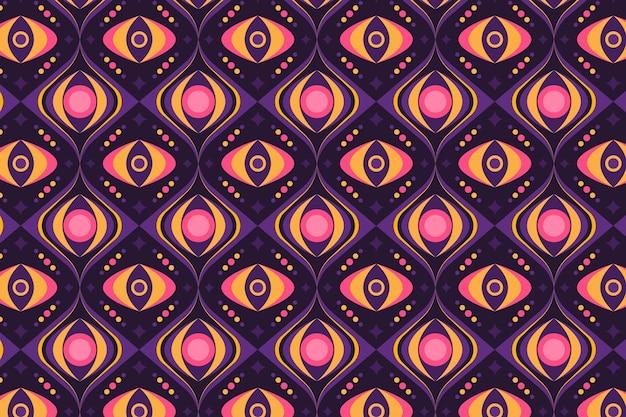 Texture de motif groovy de formes géométriques sans soudure
