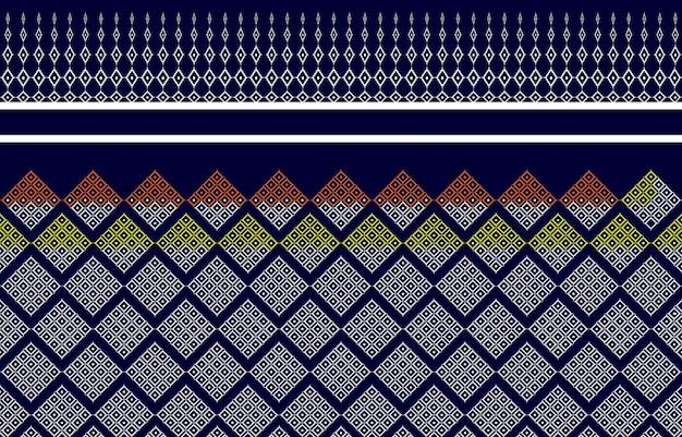 Texture de motif thaïlande de tissu indigène