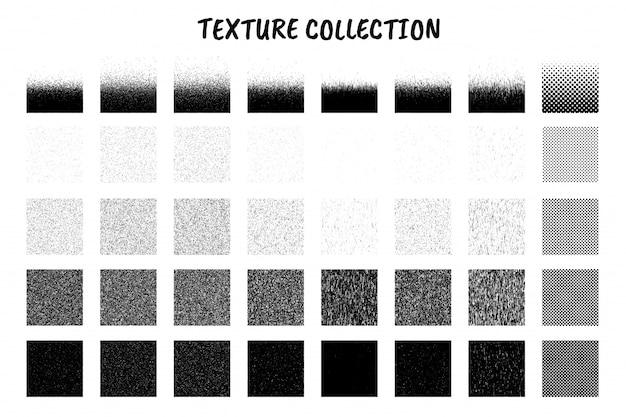 Texture de nombreux grains de sable carré