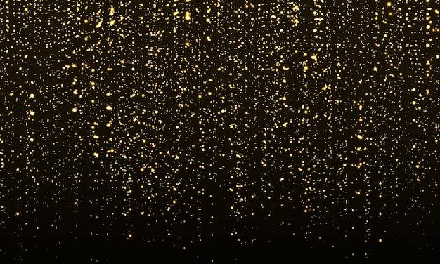 Texture de paillettes d'or. particules abstraites dorées.