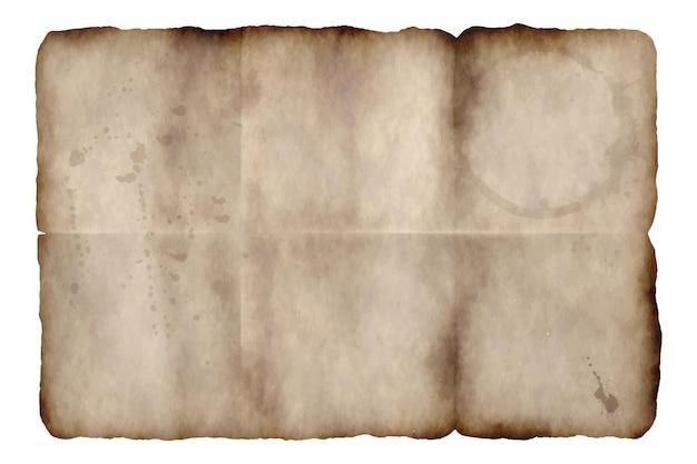 Texture de papier brûlé réaliste