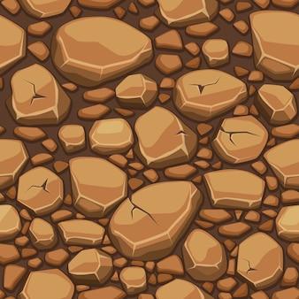 Texture pierre dessin animé en arrière-plan transparent de couleurs marron