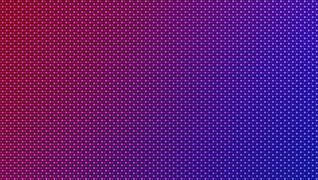 Texture de pixel led. fond dégradé avec des points. moniteur d'affichage lcd. effet diode électronique.