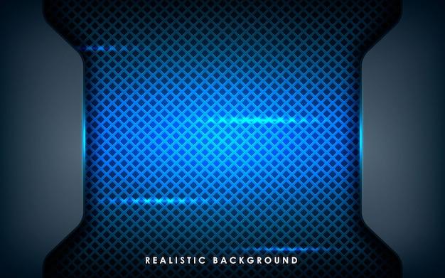 Texture réaliste des couches de chevauchement avec des lumières bleues
