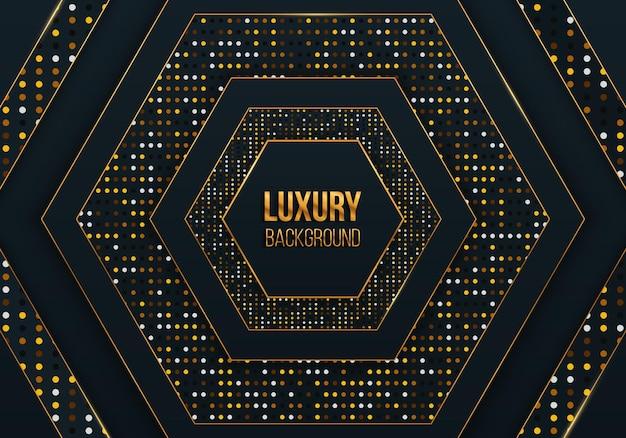 Texture réaliste avec effet de lumière et décoration d'élément de points de paillettes dorées