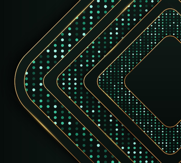 Texture réaliste avec effet de lumière et décoration d'éléments de points de paillettes dorées