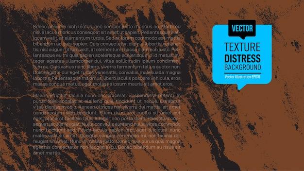 Texture rugueuse brune et noire. texture de superposition en détresse monochrome.