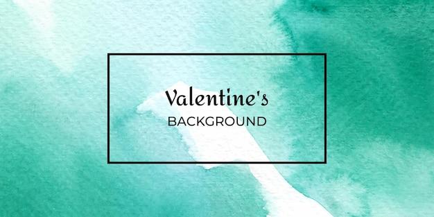 Texture de saint-valentin aquarelle verte