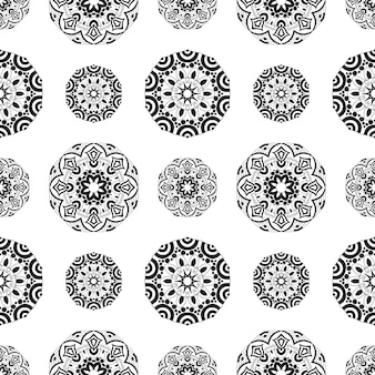 Texture sans fin avec mandala à motifs stylisés de style indien.