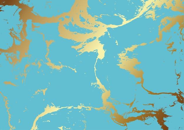 Texture sarcelle et marbre doré
