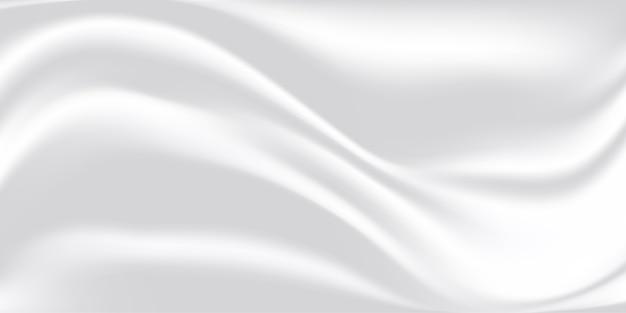 Texture de soie abstraite en tissu blanc.