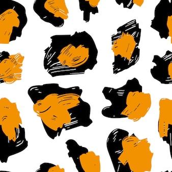 La texture des taches de léopard. motif léopard pour textiles. taches jaune-noir sur fond blanc.