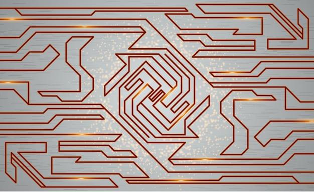Texture techno futuriste, illustration de la technologie abstraite. concept graphique pour votre conception
