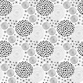 Texture de tissu modèle sans couture de mode. conception de textile contexte ethnique avec des cercles