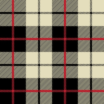 Texture de tissu noir et blanc dans un motif carré sans soudure