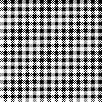 Texture de tissu sans couture carreaux noir blanc