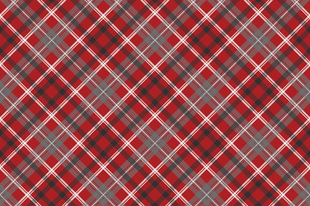 Texture de tissu sans couture carreaux rouge