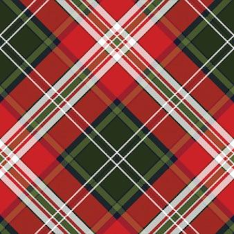 Texture de tissu sans couture à carreaux vert rouge