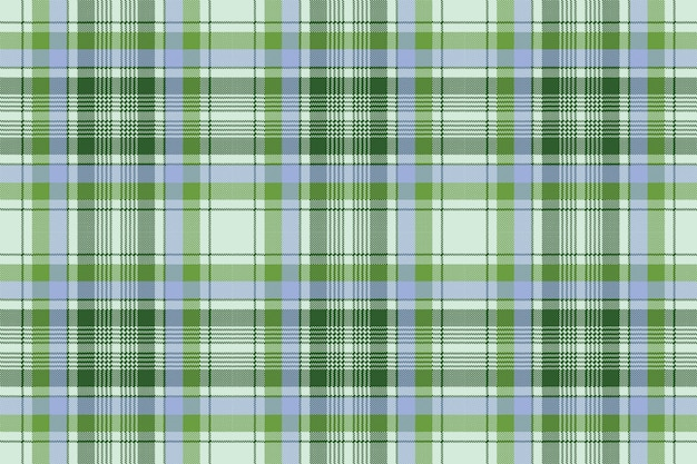 Texture de tissu sans couture pixel plaid vert