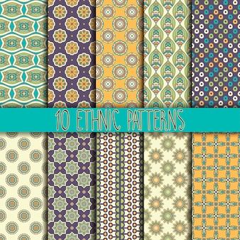Texture transparente avec un décor géométrique vector set of patterns
