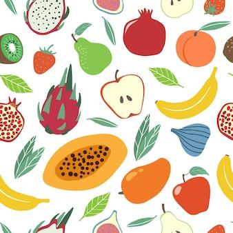 Texture transparente motif fruits