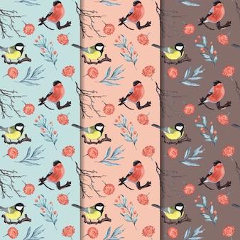 Texture transparente avec oiseaux