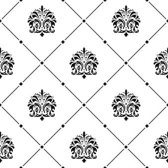 Texture transparente d'ornement à l'ancienne de luxe classique