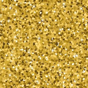 Texture transparente de paillettes d'or jaune