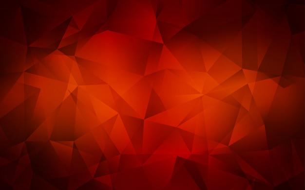 Texture de triangles dégradés vecteur rouge foncé.
