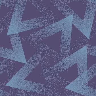Texture triangles pointillés tendance modèle sans couture bleu violet abstrait