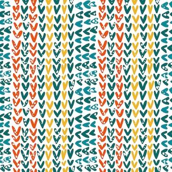 Texture tricotée dans les couleurs contrastées