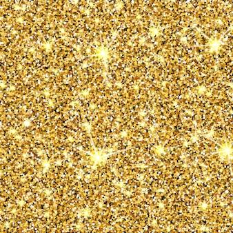 Texture de vecteur de paillettes d'or fond de sparcle doré particules ambre toile de fond de luxe
