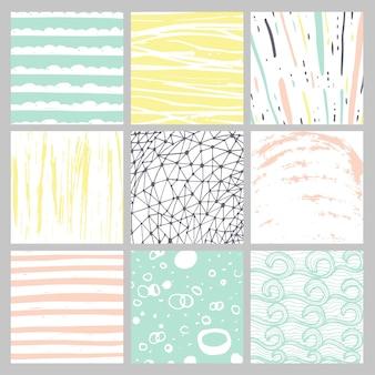 Textures dessinées à la main à l'encre. peut être utilisé pour le papier peint, l'arrière-plan de la page web, l'album, la décoration de fête, la conception de t-shirt, la carte, l'impression, l'affiche, l'invitation, l'emballage, etc.