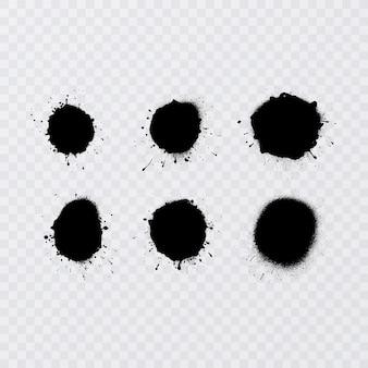 Textures d'éclatement de peinture en aérosol avec surpulvérisation textures très détaillées tirées de numérisations haute résolution